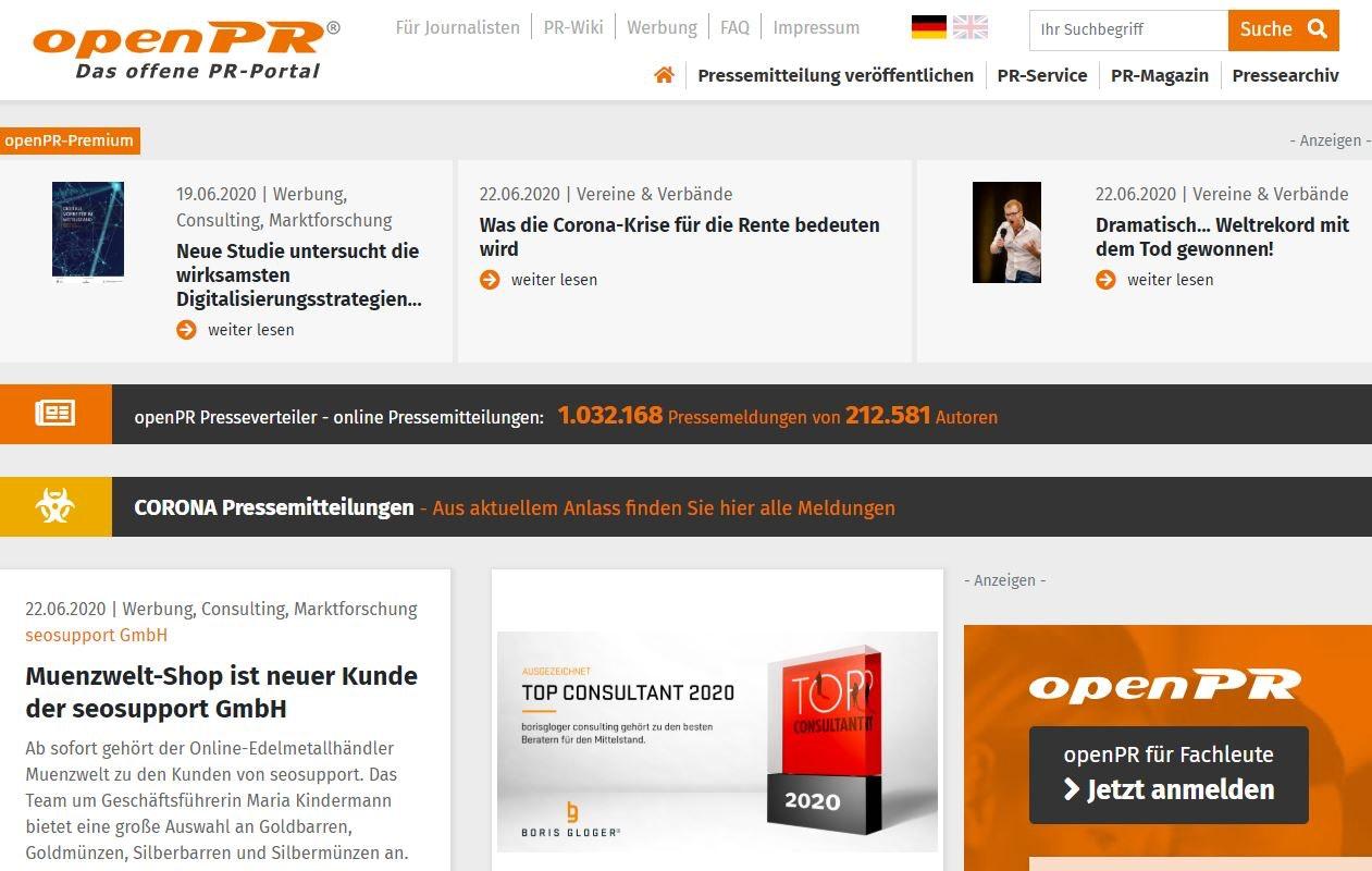 Website Traffic über Open Pr