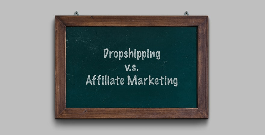 Dropshipping vs. Affiliate Marketing Titel