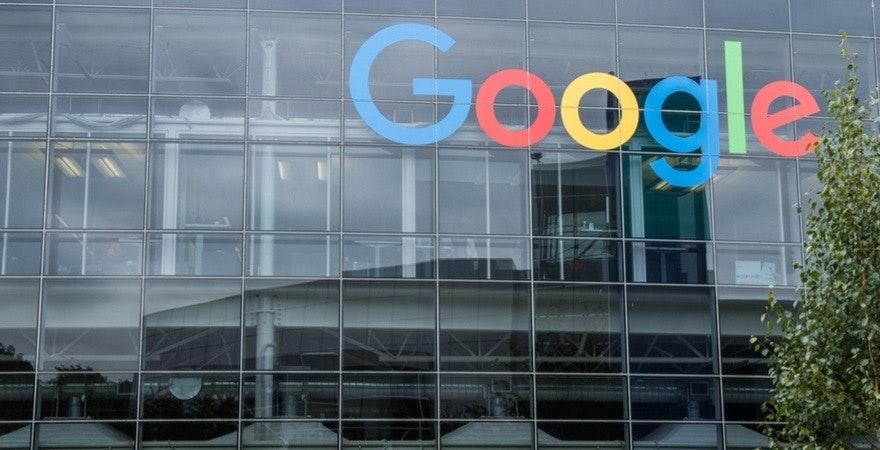 Google Logo am Firmensitz