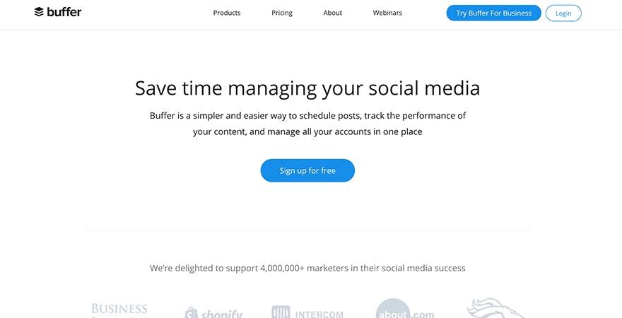 Marketing Automation mit Buffer - Screenshot