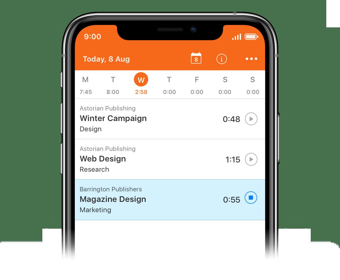 Time Tracker App - Harvest
