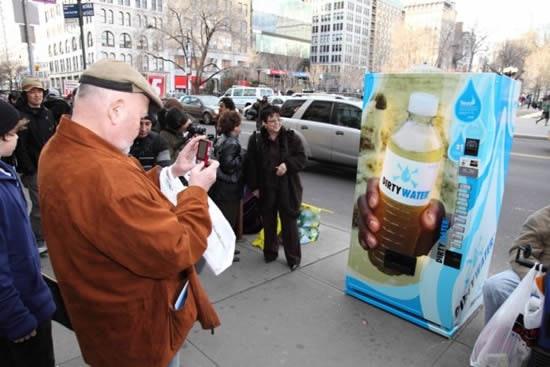Guerilla Marketing - Wasser-Automaten in NY