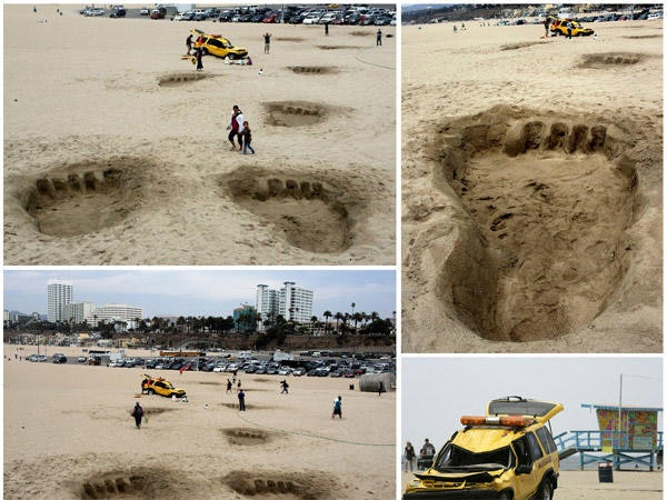 Guerilla Marketing - King Kong am Strand in LA