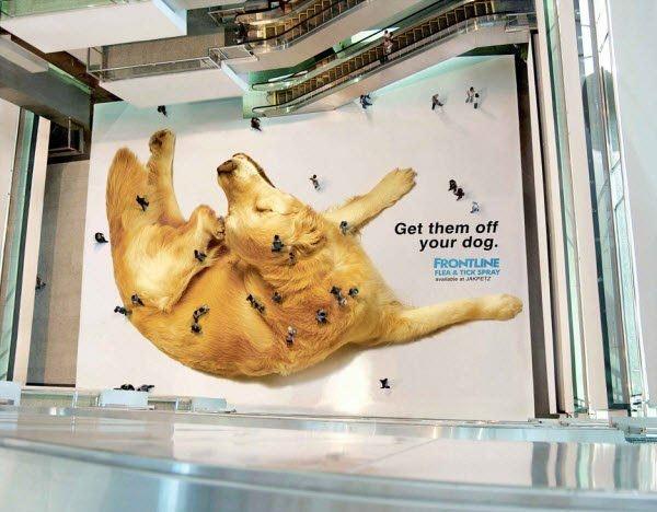Guerilla Marketing - Riesiger Hund
