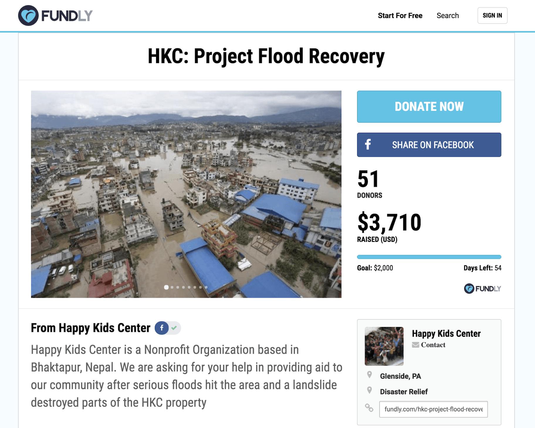 Spendenbasiertes Crowdfunding - Beispiel