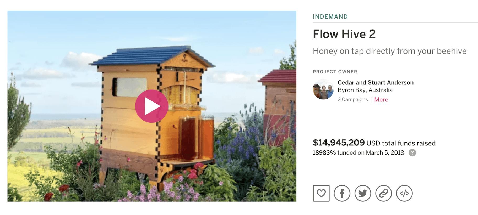 Flow Hive Kampagne