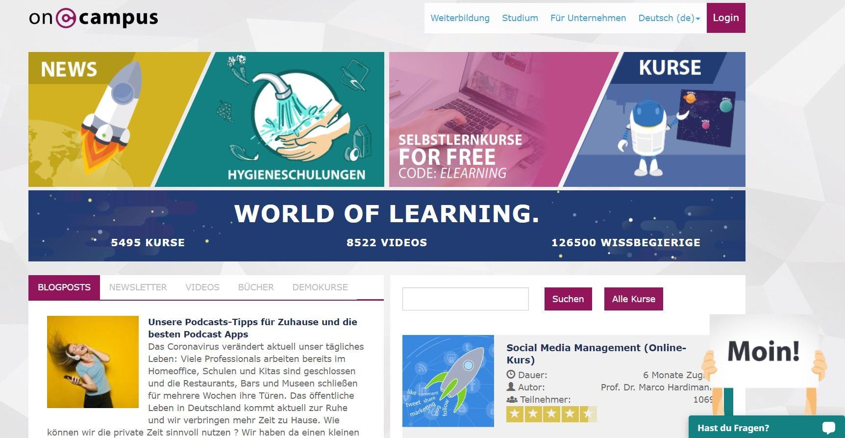 Online lernen mit oncampus