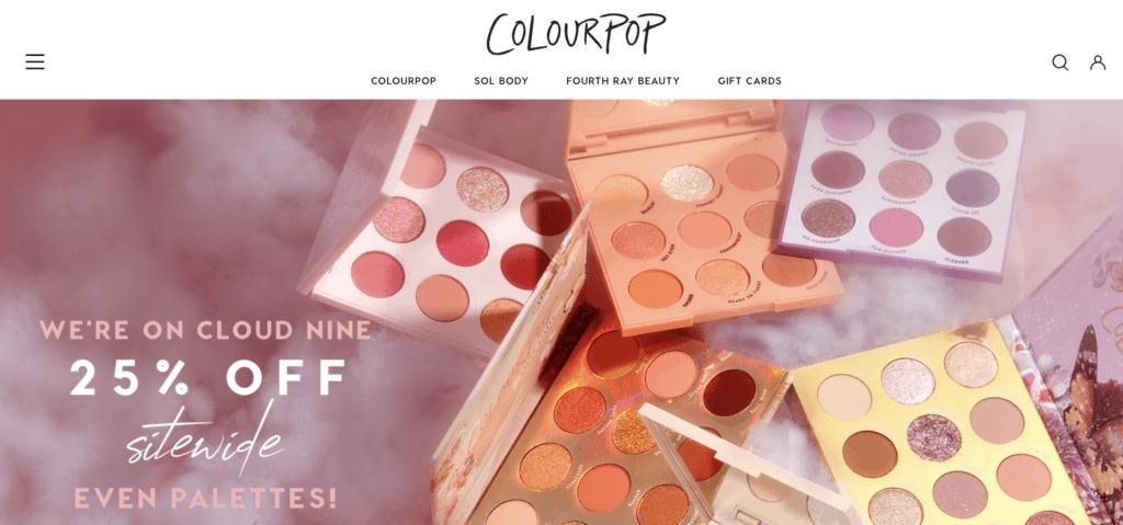 Screenshot Colorpop als Beispiel Firmennamen