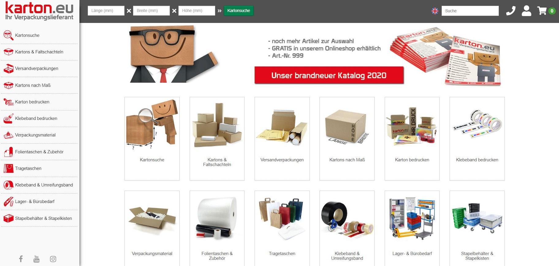Verpackung bei Karton.eu