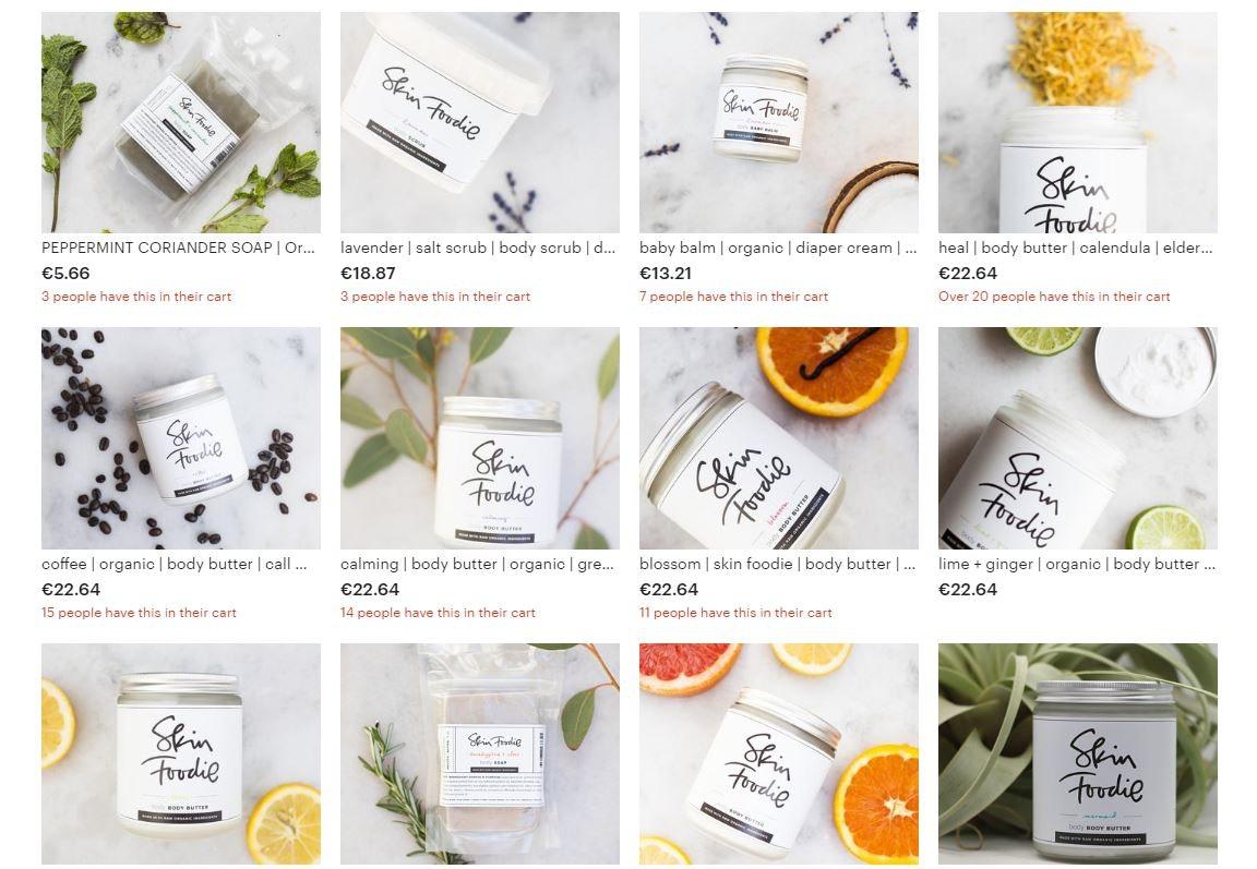 Verpackungen von Skin Food Kosmetik