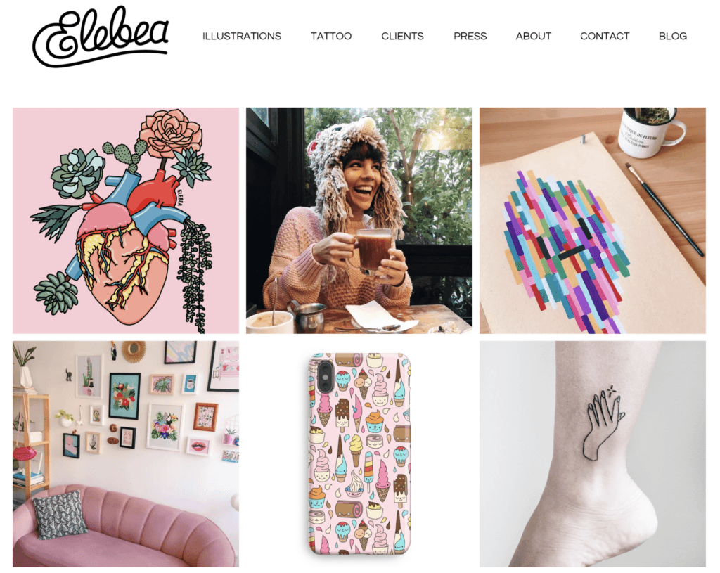 Website Screenshot Elebea