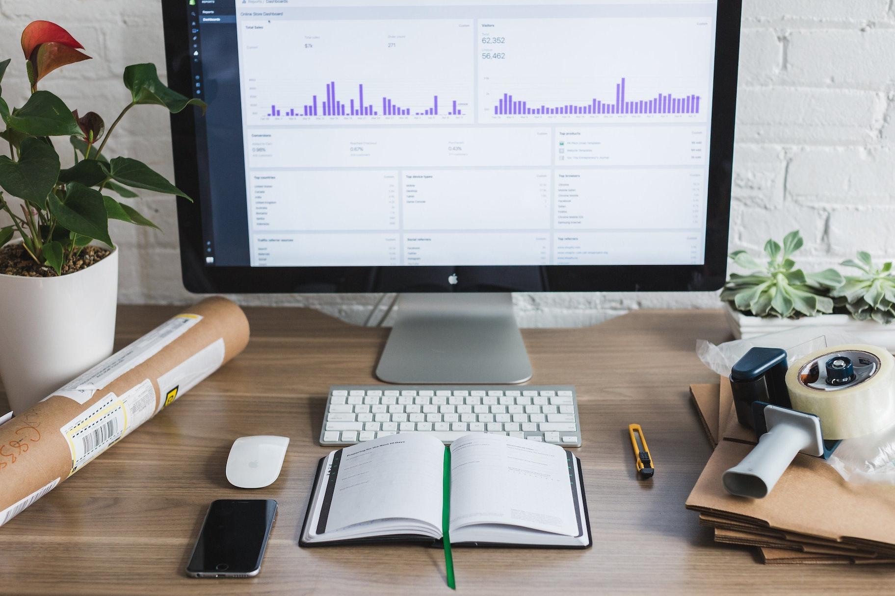 Schreibtisch eines Entrepreneurs