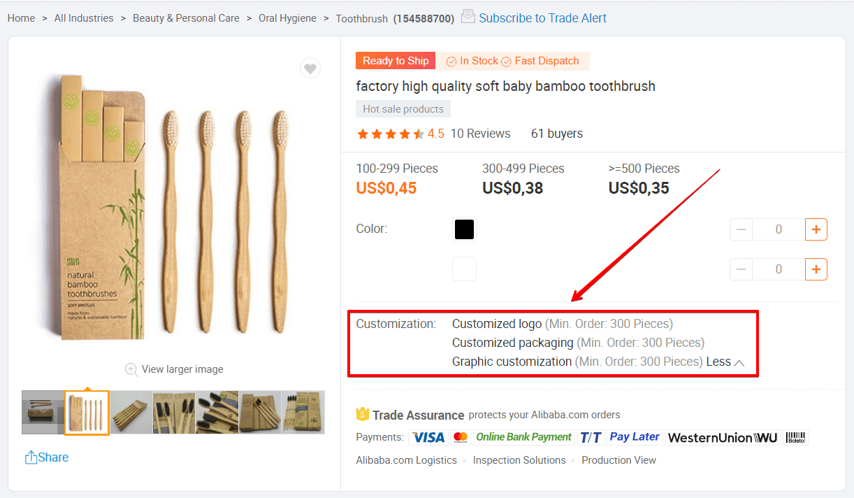 Bamboo Toothbrushes mit MOQ