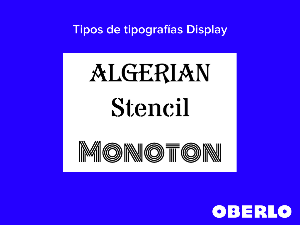 tipos de tipografias display