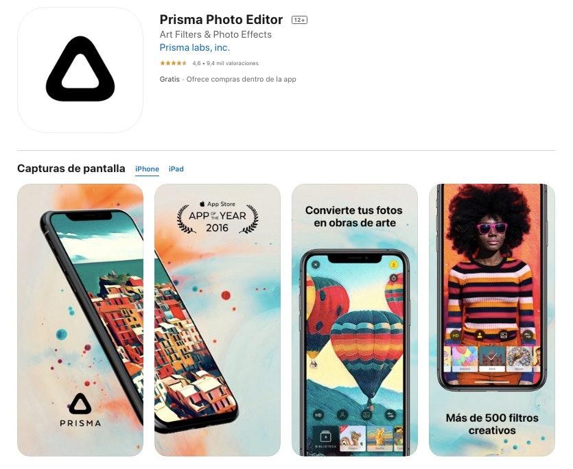 prism app to edit photos