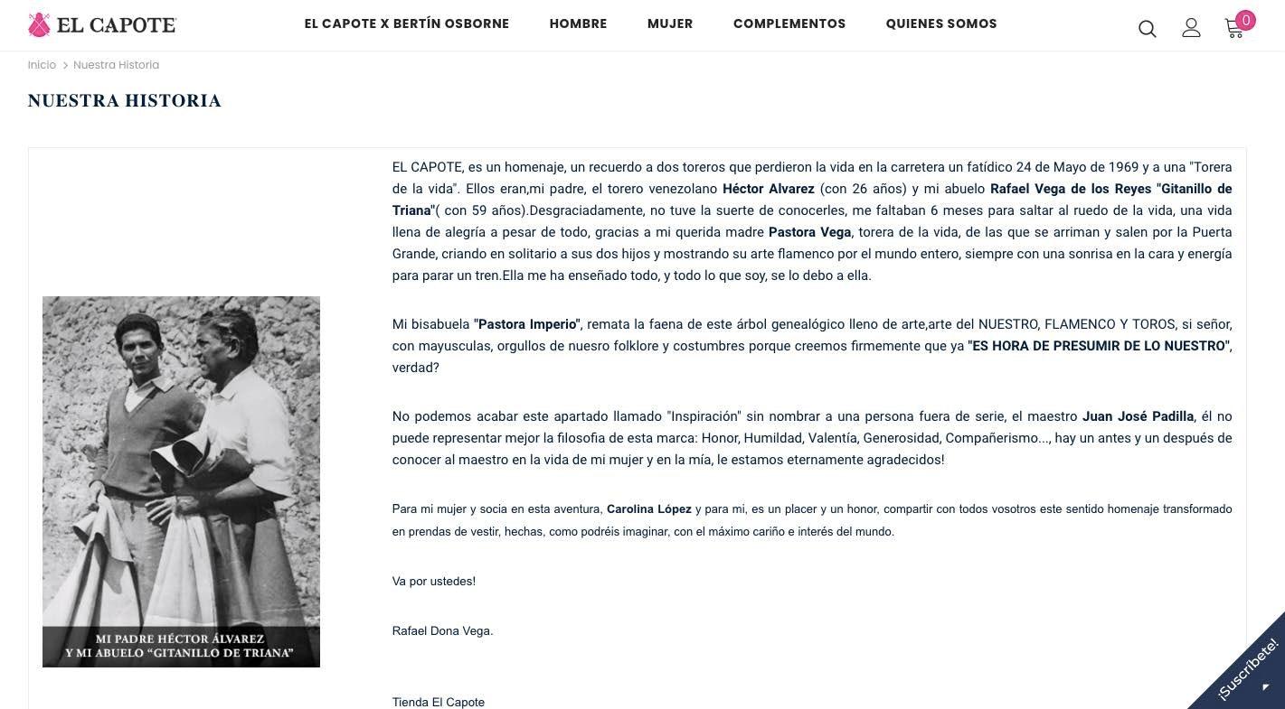 acerca de nosotros pagina web ejemplo