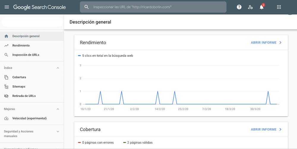 google search console coronavirus