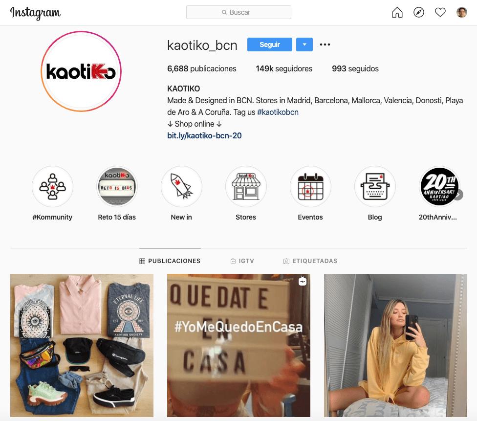 Kaotiko - Historias de Instagram