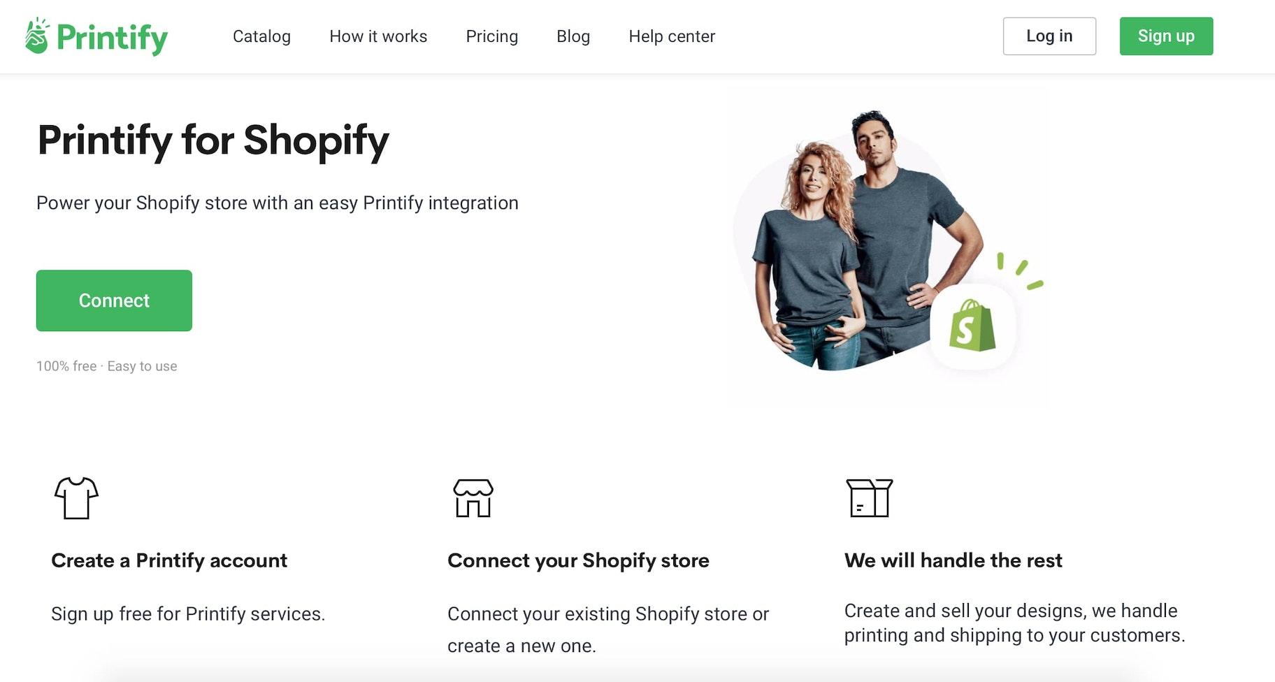 Mockup-camiseta-Printify-para-Shopify