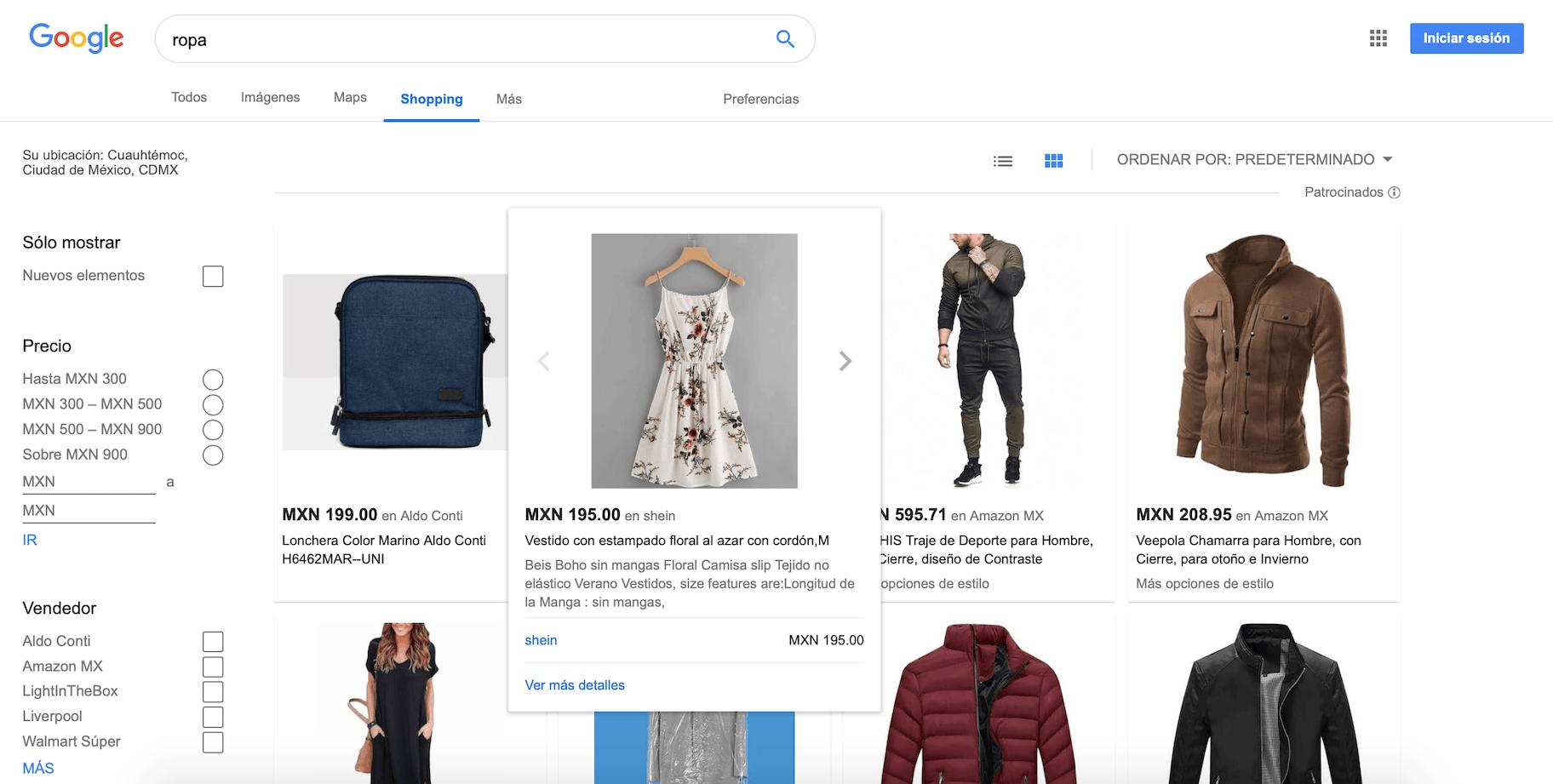 comparador de precios google shopping