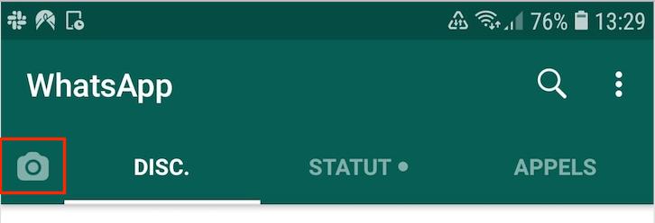 Créer un GIF sur whatsapp