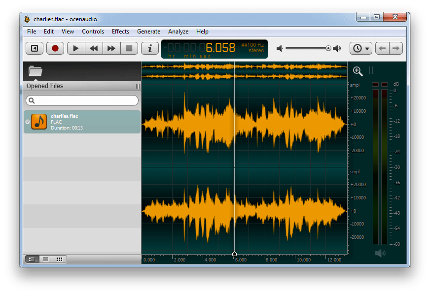 montage audio ocenaudio