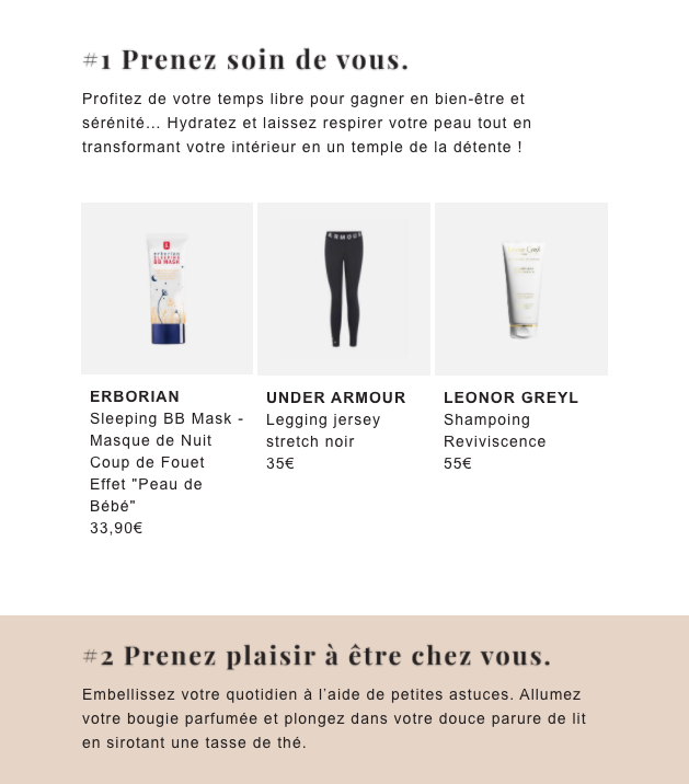 newsletter exemple produit
