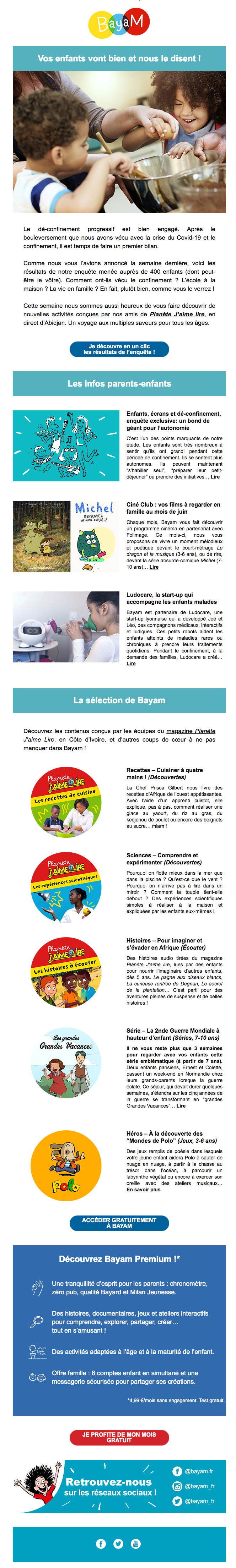 newsletter Bayam