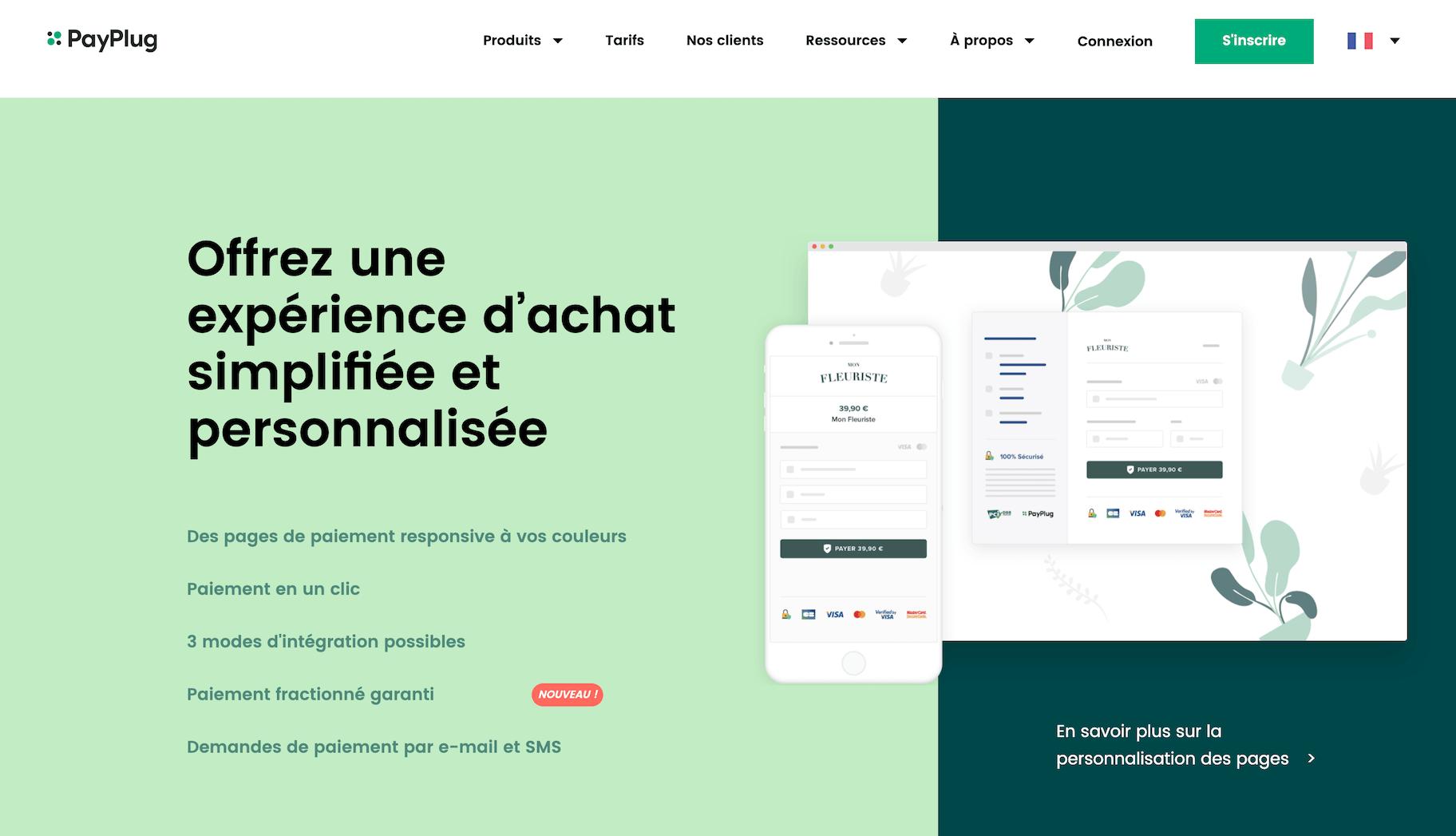 Payplug solution de paiement en ligne france