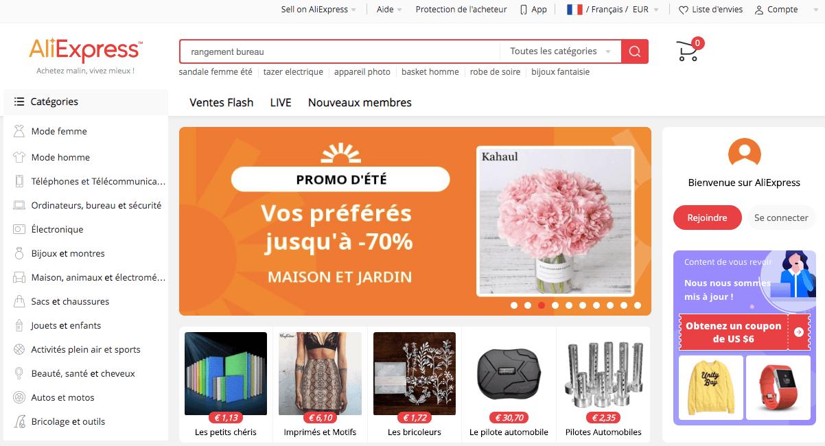 meilleurs site de vente en ligne aliexpress