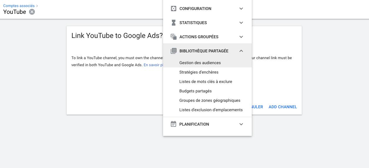 Youtube-gestion des audiences