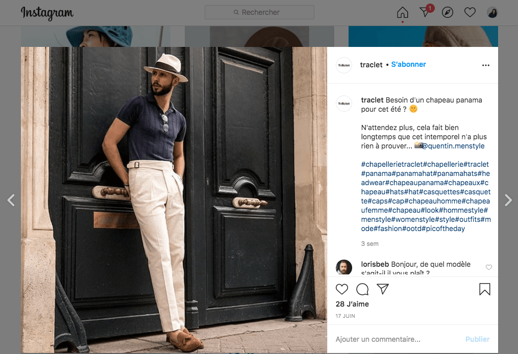 exemple social selling instagram2