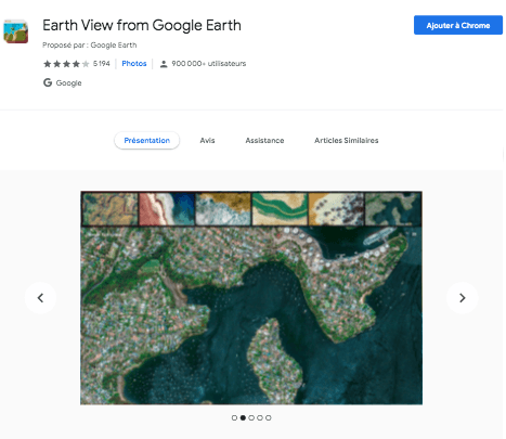 Extension Chrome Google Earth