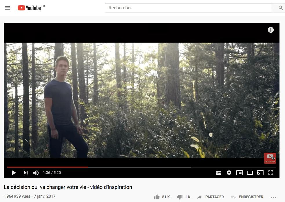 video entrepreneur la plus vue sur youtube