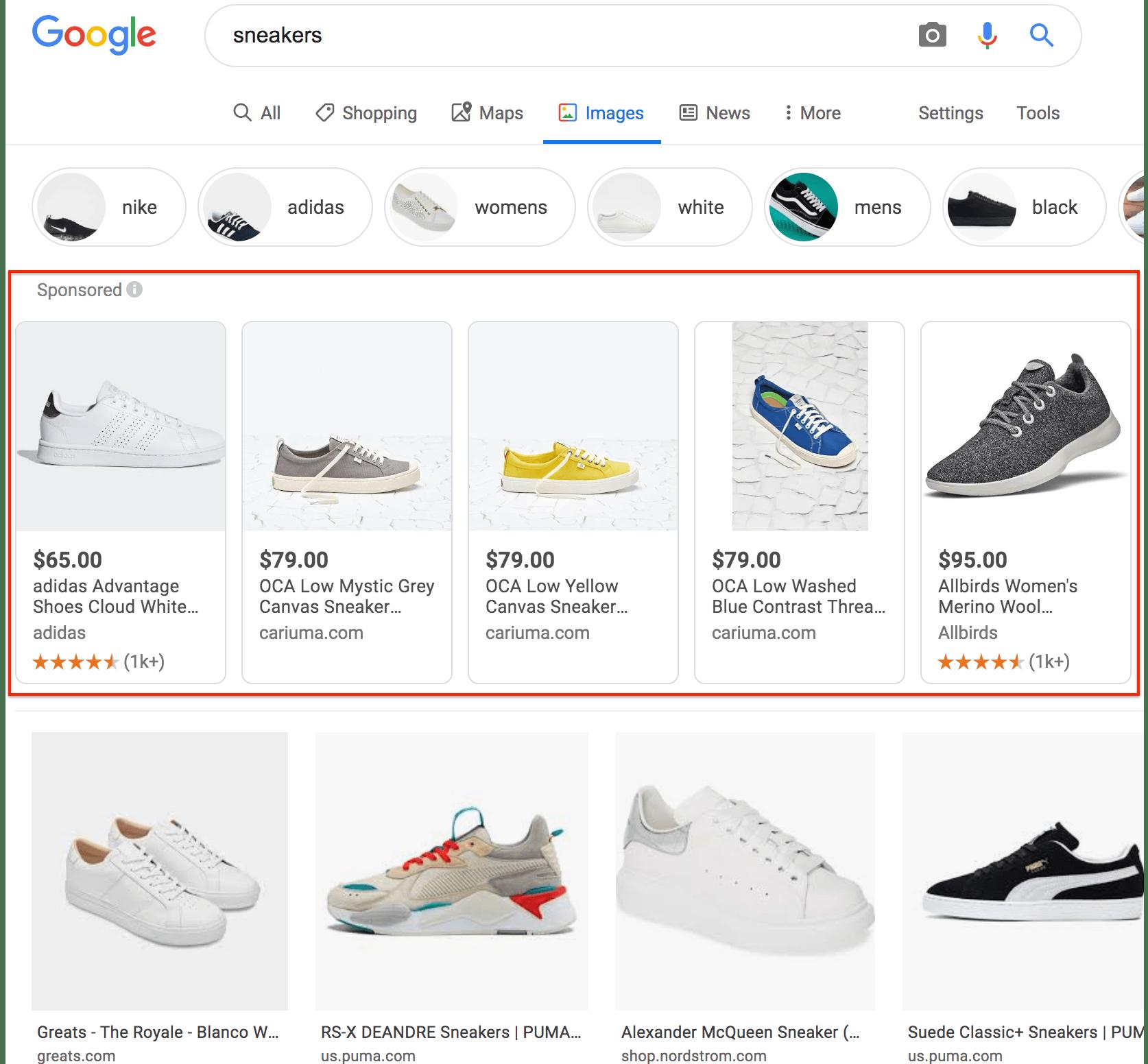 annonce produit Google Shopping