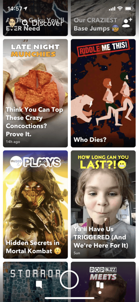 snapchat ads exemple