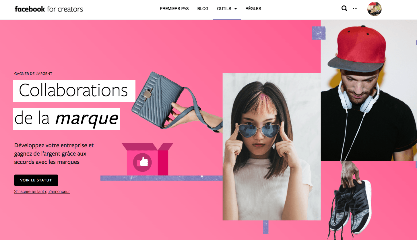Facebook brand collab manager