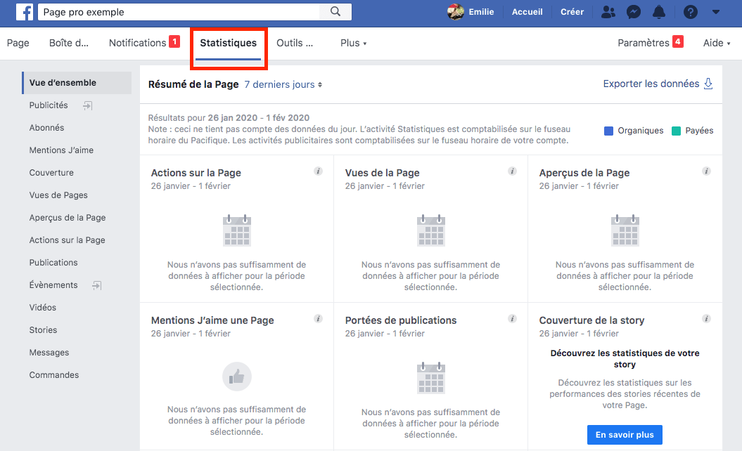 Facebook statistiques