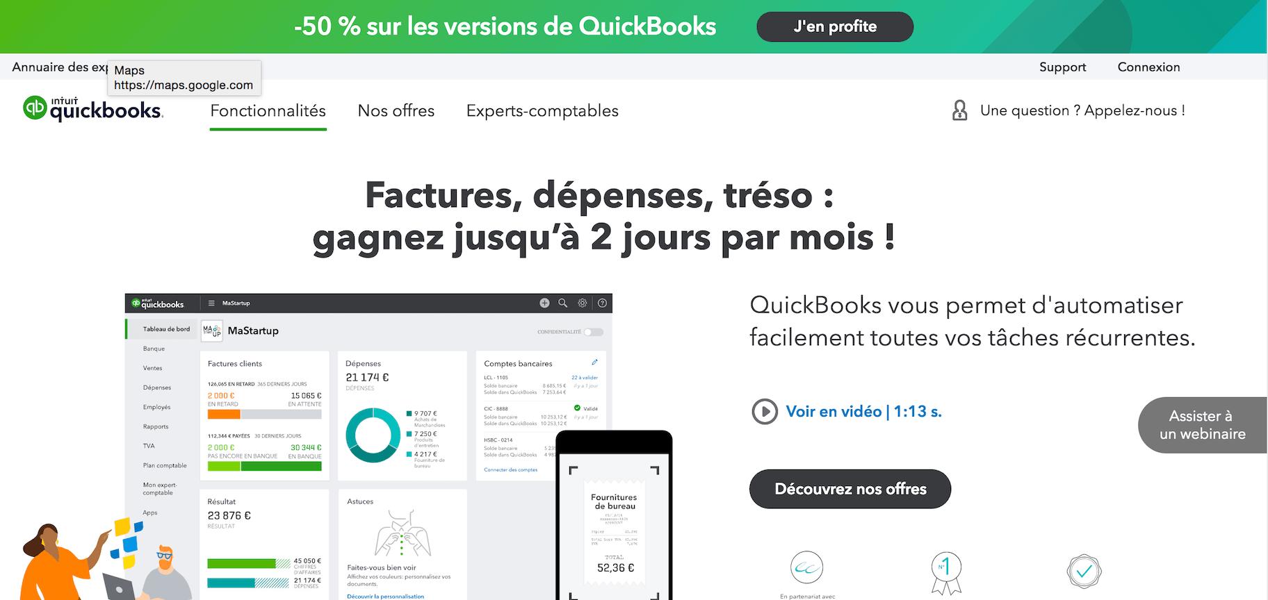 Quickbooks comptabilité
