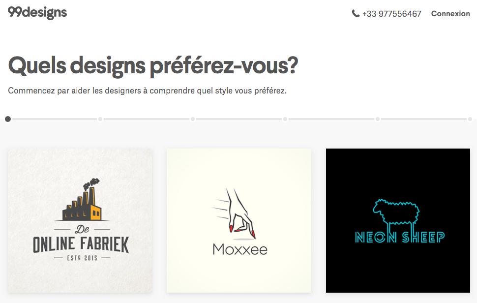 99designs site design logo