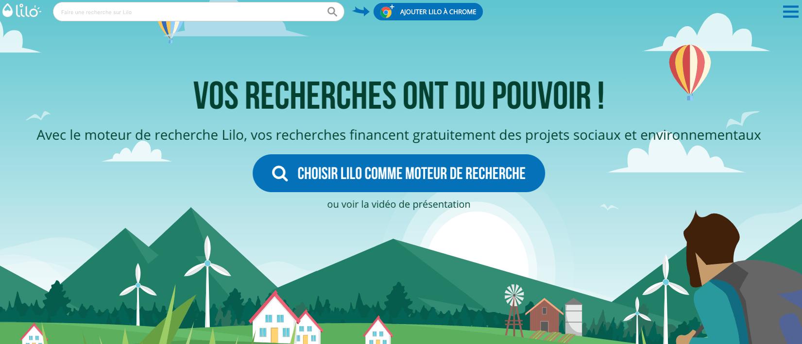 Lilo moteur de recherche français