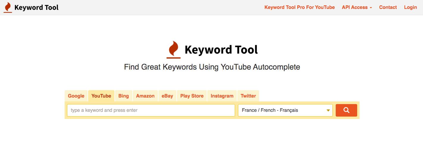 Youtube keyword tool