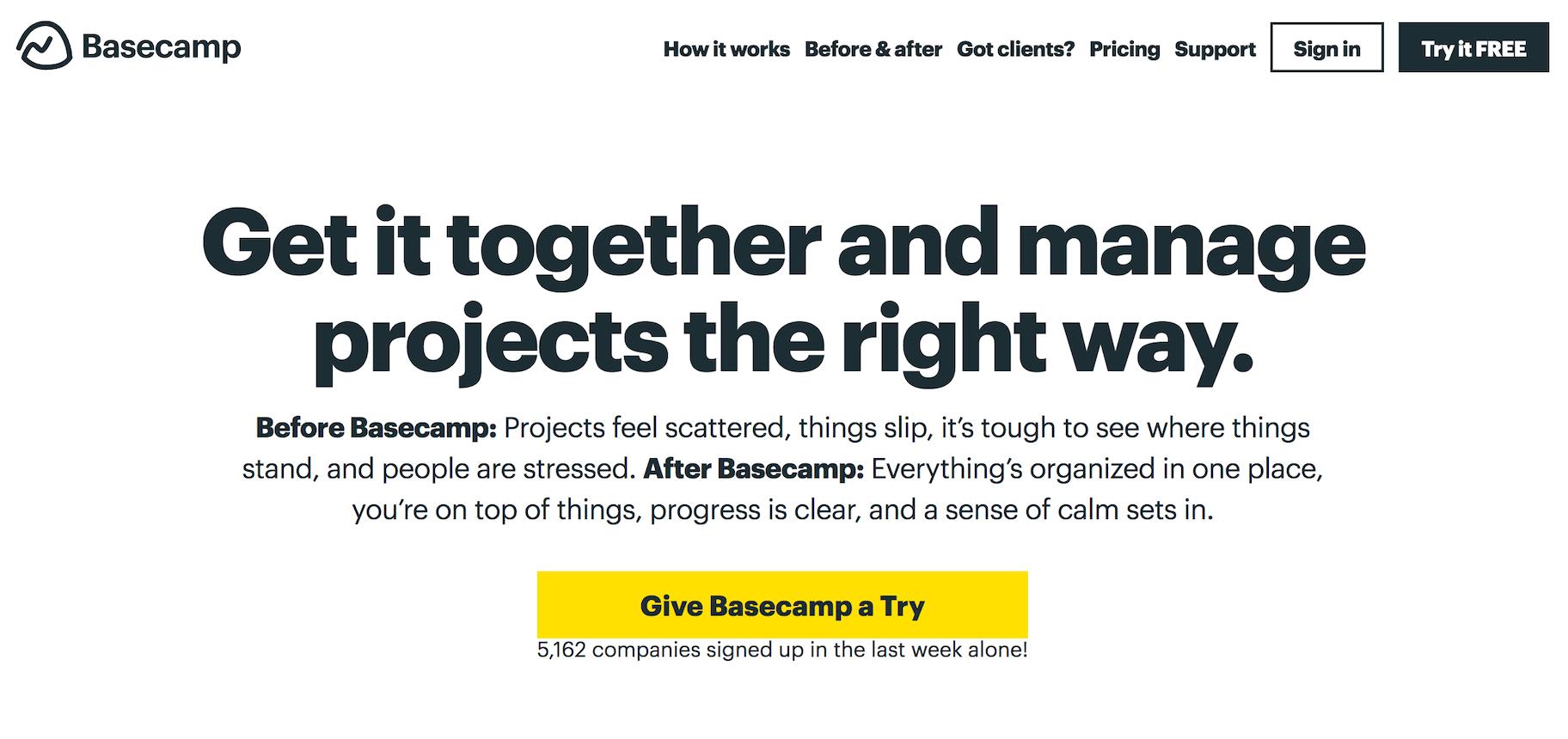 Gestion de projet Basecamp