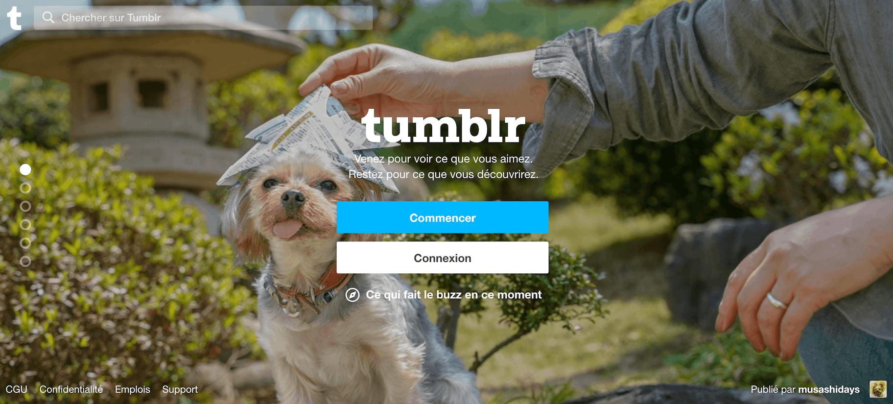 Faire un blog avec Tumblr