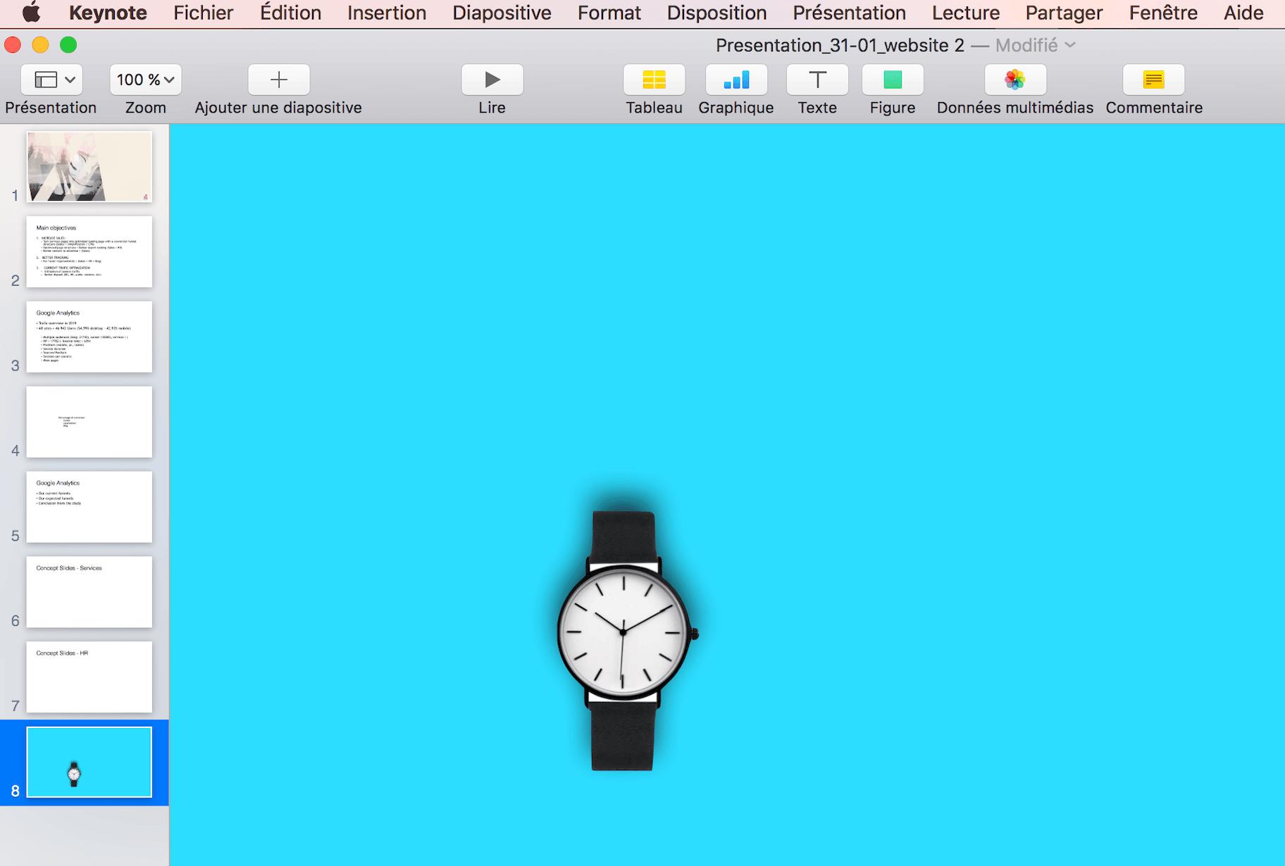 changer le fond d'une photo sur powerpoint et keynote