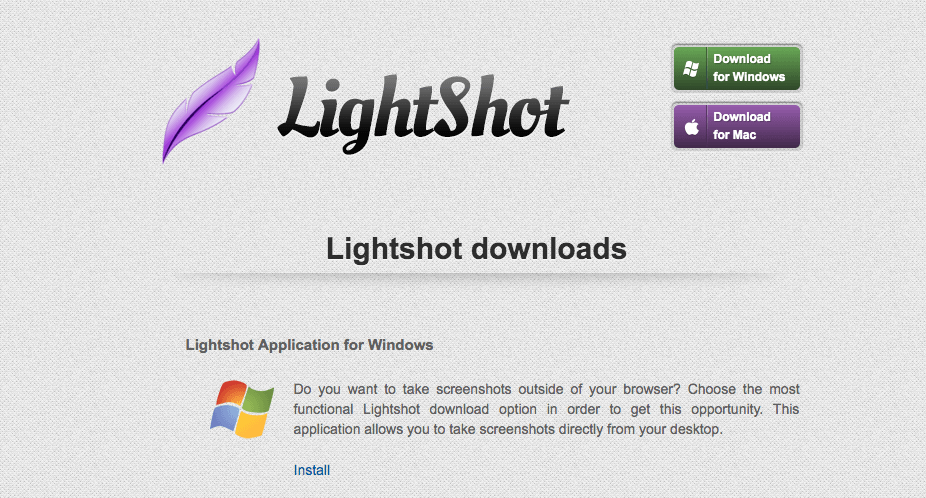Lightshot logiciel capture d'écran