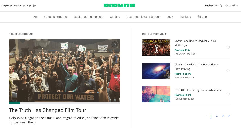Plateforme financement participatif Kickstarter