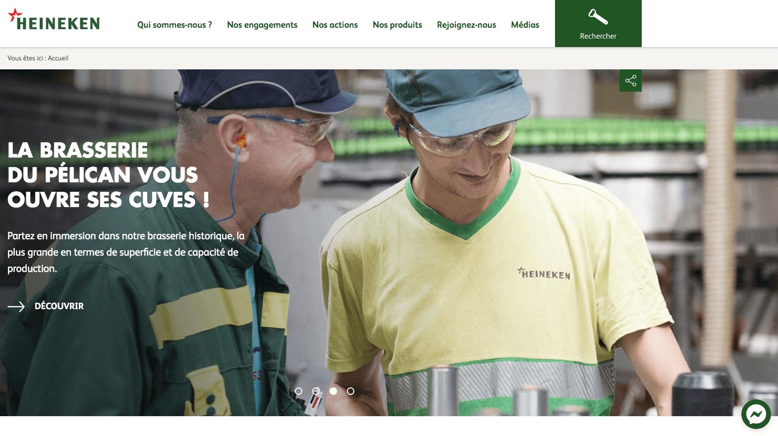 Signification de la couleur verte heineken