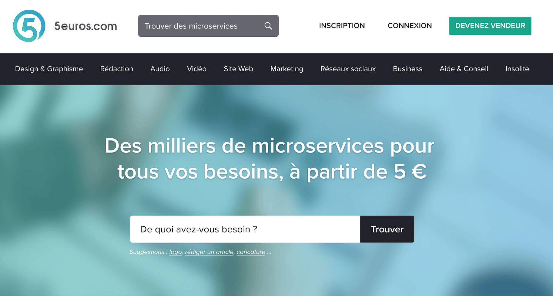 5euros plateforme mini services