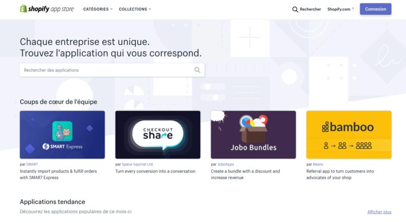 avantage e-commerce app shopify